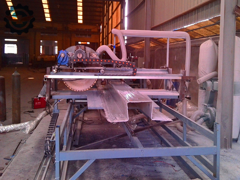 FRP rain gutter production line