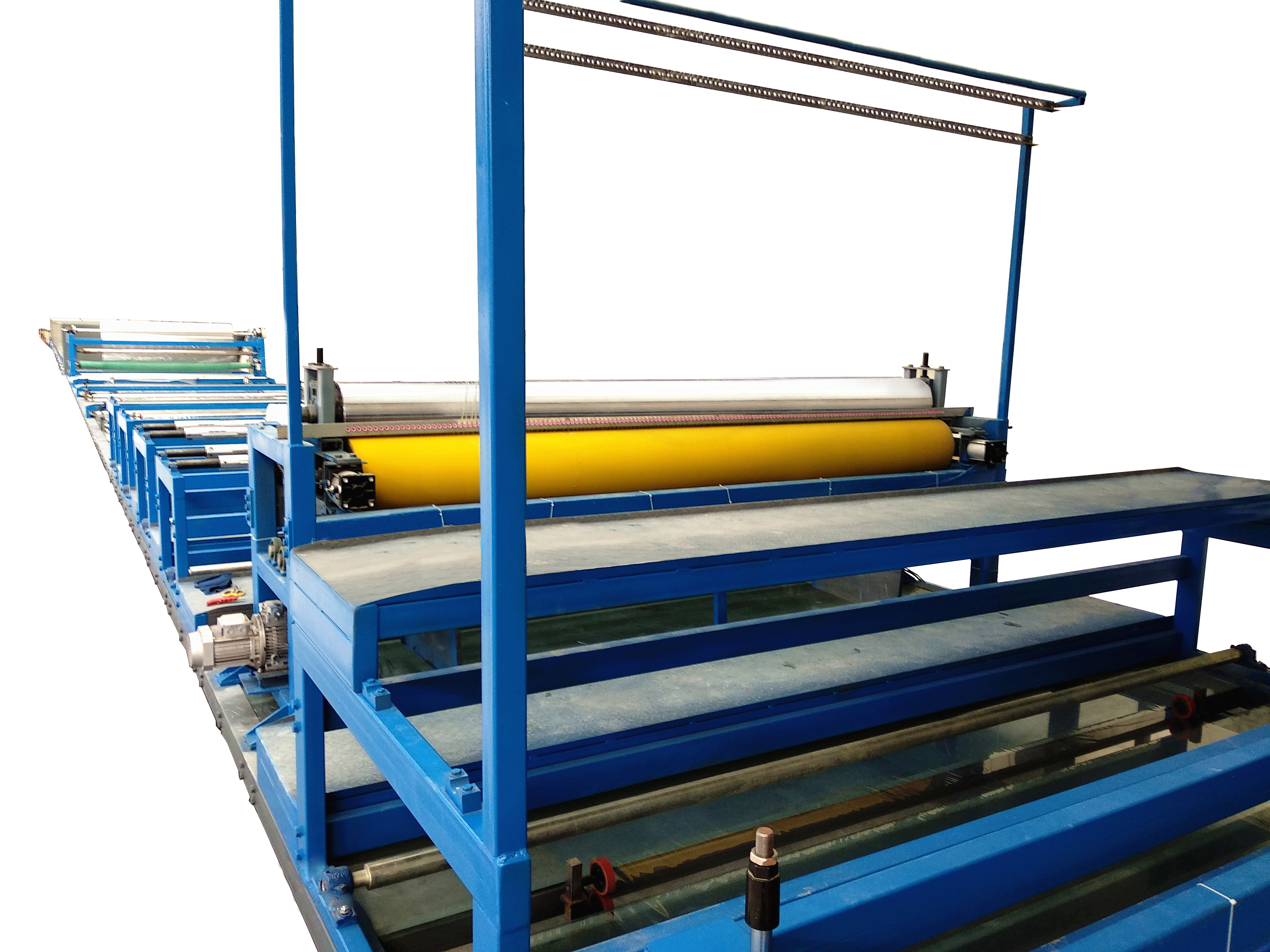 FRP transversely corrugated roofing sheet making machine