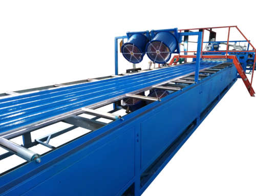 FRP gel coat roofing sheet making machine